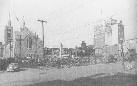 Aftermath of the 1955 Fire