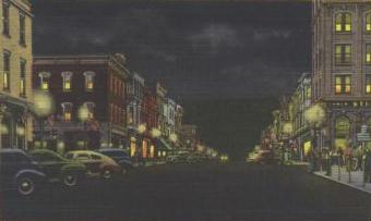 Downtown Shenandoah at Night